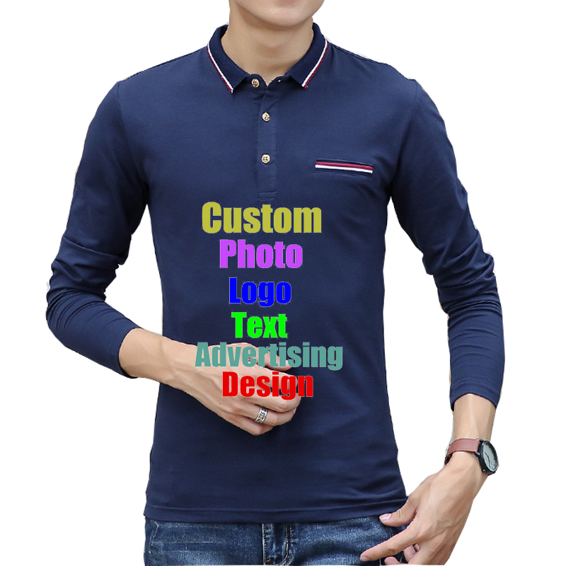 2ed4e920569 2019 Oversized 3XL Unisex Men Male Long Sleeve Spring Custom Design Logo  Text Printed Company Man. US  17.70. Wholesale Blank polo shirt Vinyl men  Polos ...