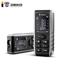 DEKO LRE521 Handheld Laser Distance Meter Mini Laser Rangefinder Laser Tape Range Finder Diastimeter Measure 40M 60M 80M 100M(China)