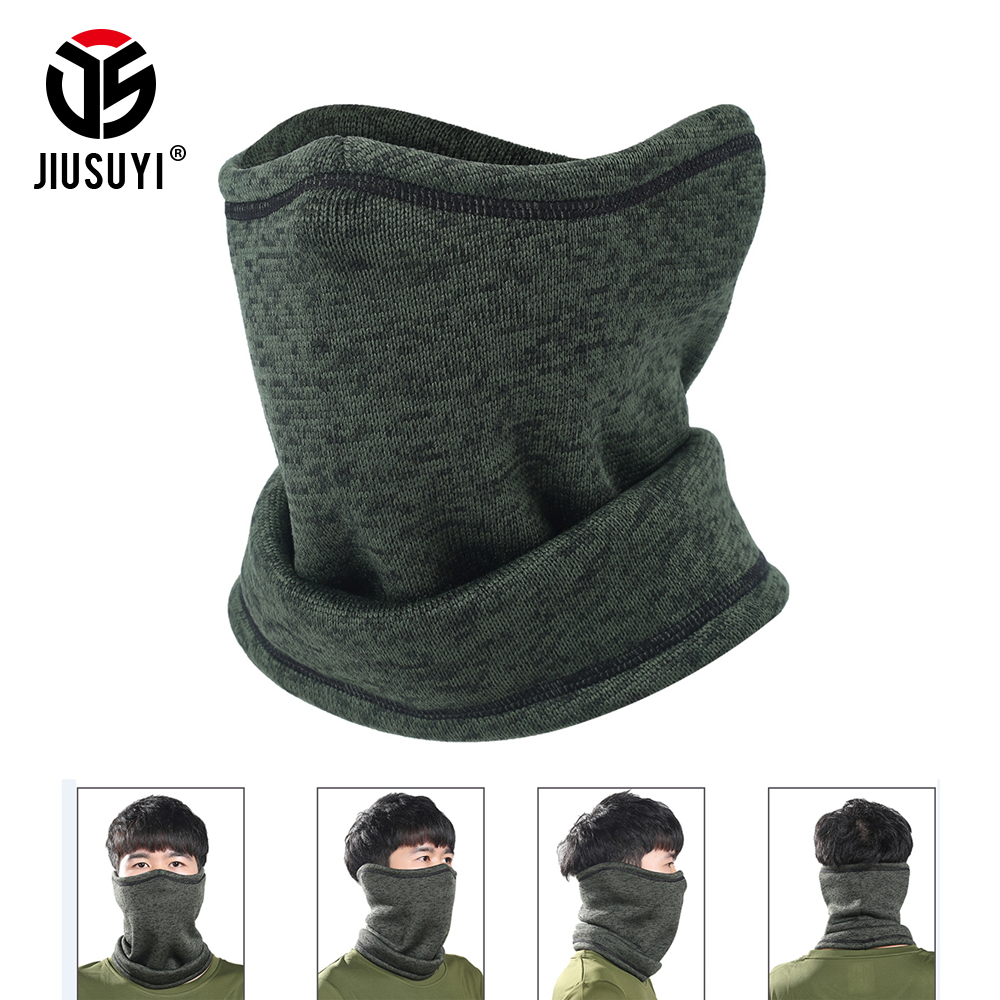 JIUSUYI Magic Headband Winter Fleece Neck Warmer Gaiter Half Face Mask Cold Scarf