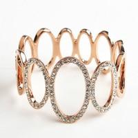nieuwe trendy italina 2015 rode appel merk vrouwen armband inlay strass armband