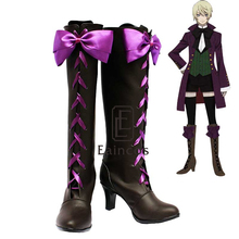 Anime Negro Mayordomo II 2 Alois Trancy Cosplay Shoes Boots Por Encargo De Fiesta de Halloween