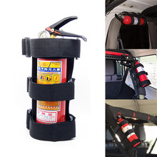 1pc Outdoor Sports Red Black Car Roll Fire Extinguisher Bar
