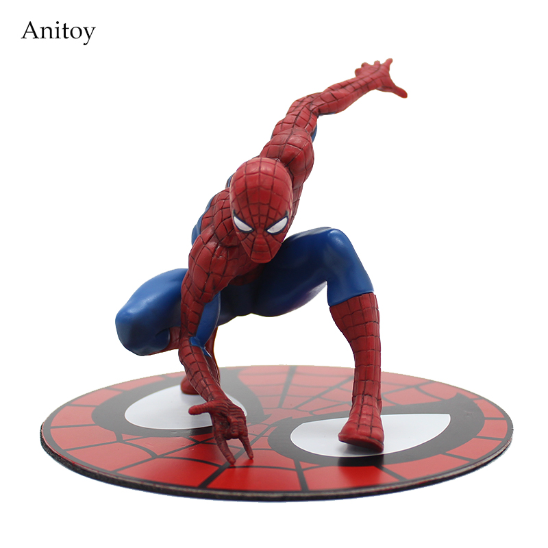ARTFX + STATUE Spiderman The Amazing Spider-man PVC Action Figure Collectible Model Toy 12cm KT3715 spiderman creator x creator the amazing spider man pvc figure collectible model toy