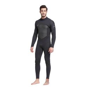Image 3 - Erkek 5mm siyah/gri Wetsuit tüplü dalış sörf Fullsuit tulum Wetsuits neopren dalış elbisesi erkekler 5 milimetre