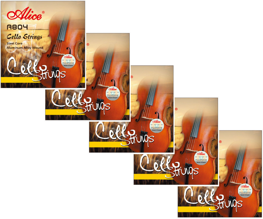 5 Sets Alice A804 Steel Core Aluminum Alloy Wound Cello Strings