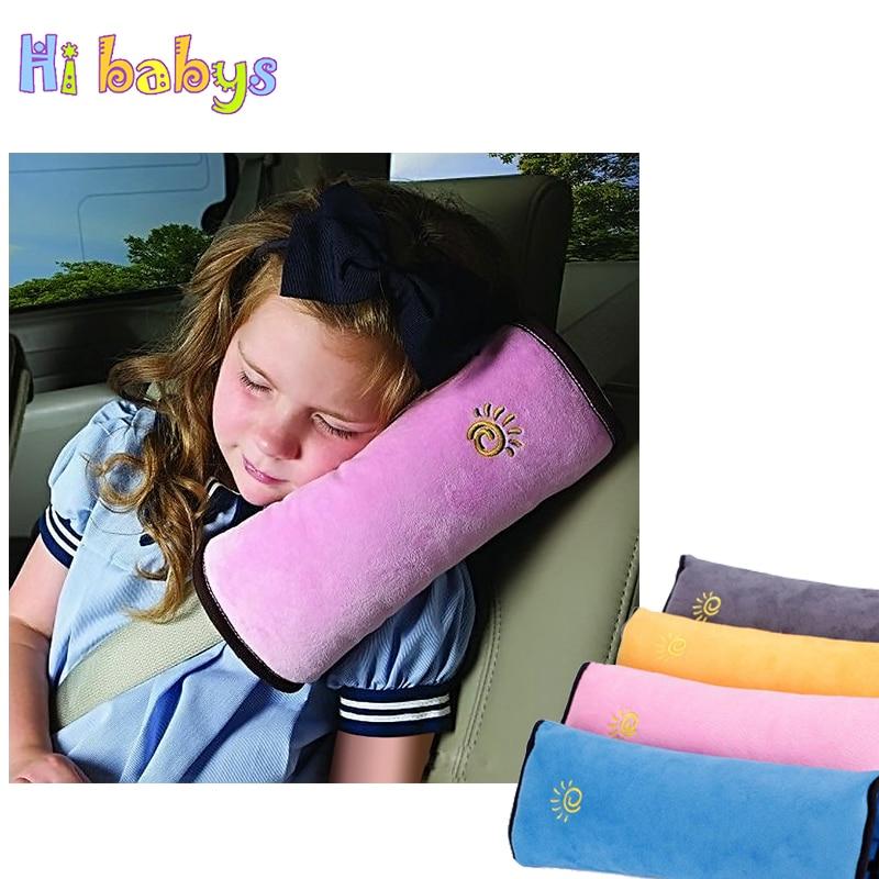 Children Safety Strap Car Seat Belts Pillow Kid Baby Protection Soft Shoulder Pillow Headrest Car Seat Belt Strap Cover 4 Colors