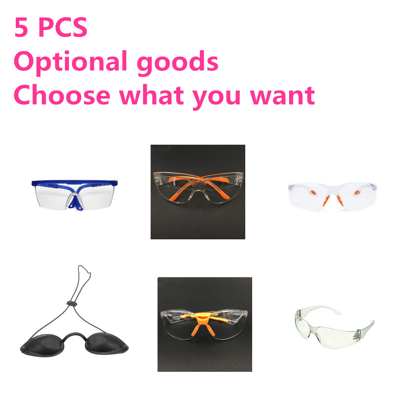 BINYEAE Free Shipping Optional Goods5 PCS Work Safety Glasses Wind And Dust Goggles Anti-fog Medical