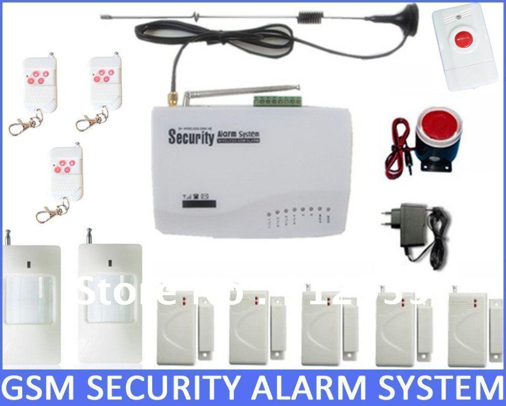 Wireless Home Security GSM alarm System + 5*Window door sensor + 2 ...