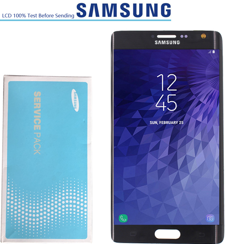 5 6 NEW ORIGINAL Parts Super Amoled LCDs Display For Samsung Galaxy Note 4 Edge N915