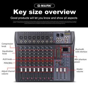Image 5 - G MARK MR80S audio mixer music studio mixing console Analog mixer 7 mono 1 stereo USB MP3 Bluetooth 48V power Christmas party