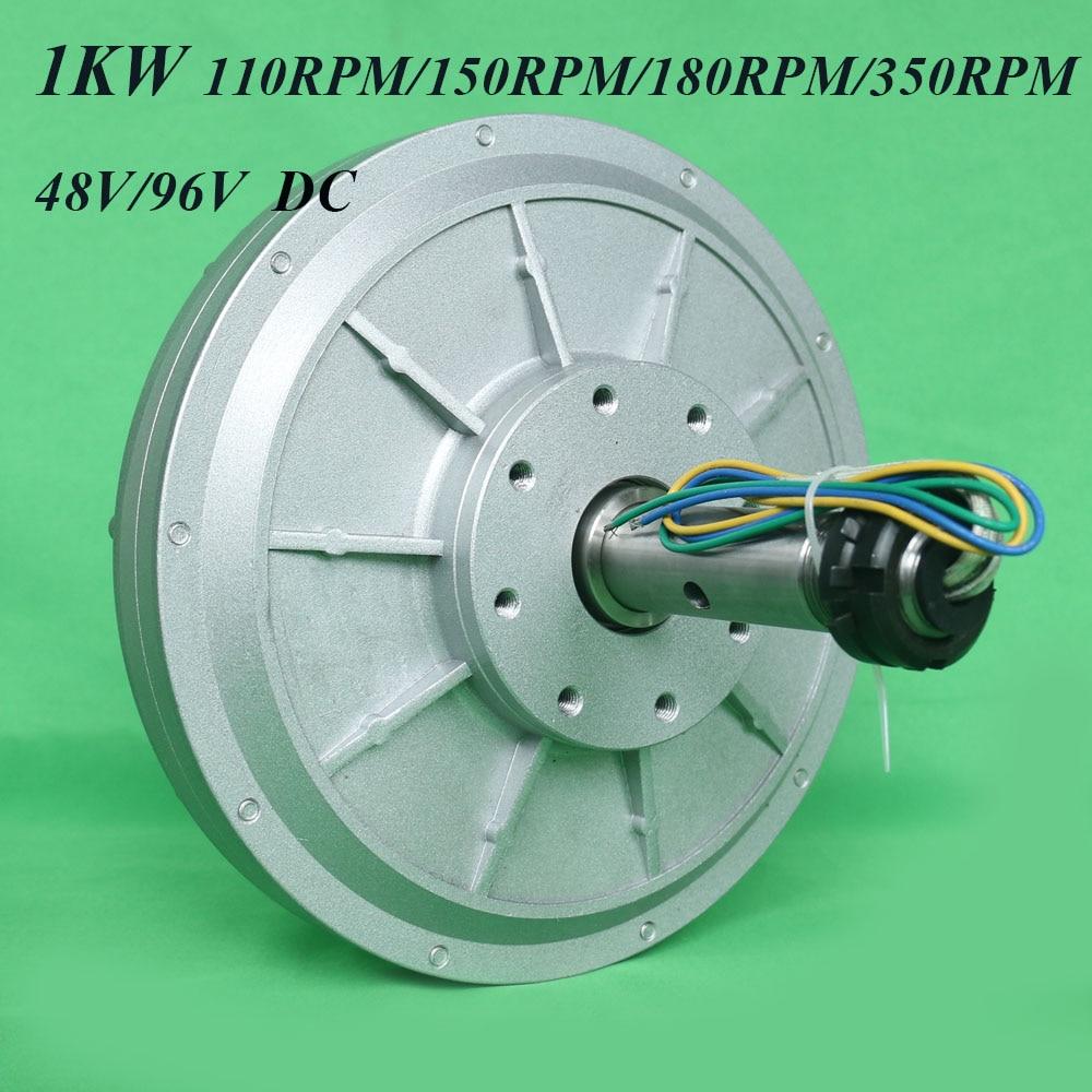 1000W 48v 96v 120v 220v Coreless ac Rare Earth Permanent Magnet Generator Low RPM 110/150/180/350rpm 1000w Maglev Generator