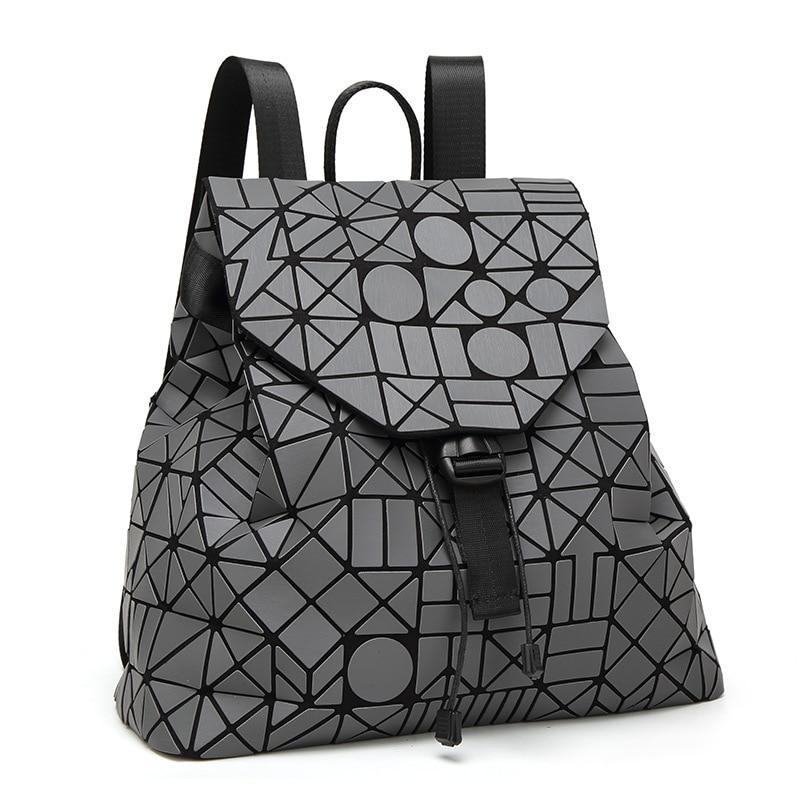 2019 New Laser Matte Geometric Women Backpack Bags Women Fashion School Bag  Folding Girl Shoulder Bag Daily Backpacks Bao Logo-in Backpacks from Luggage  ... 680535275cb2d