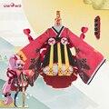 Zombie onmyoji chan cosplay kimono japonés pequeño salto hermana rojo uwowo dress costume