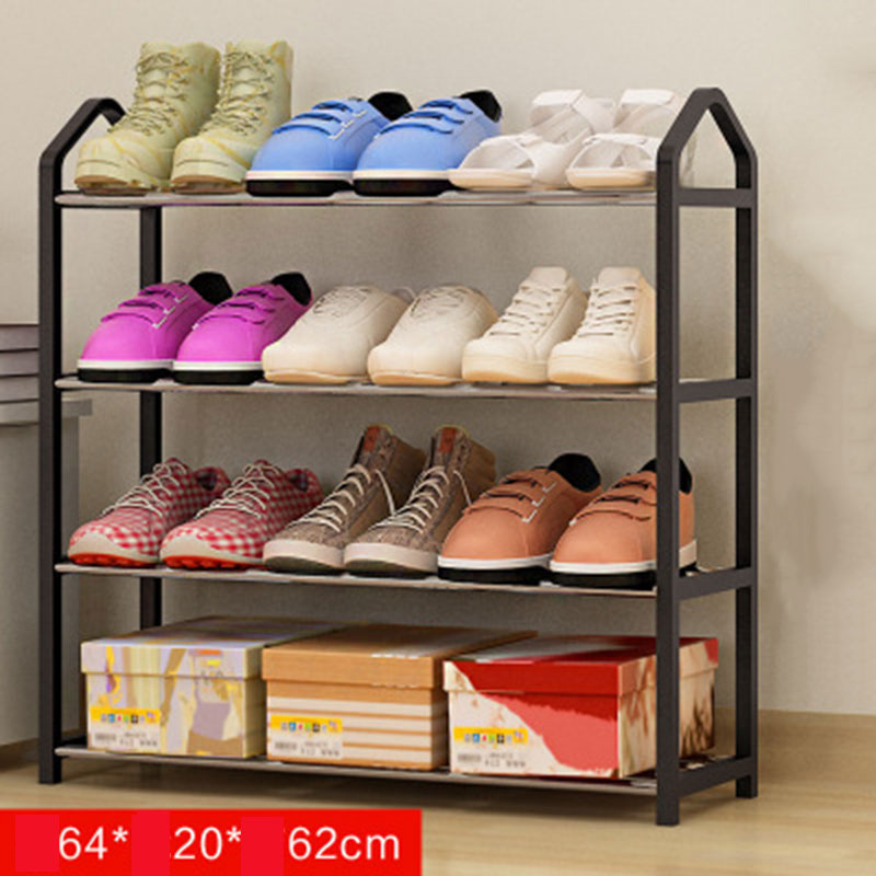 a3c8b2e8f467 Multi layers Metal Iron Simple Shoes Shelf Student Dormitory DIY Shoes  Storage Rack Small Shoes Cabinet Home Furniture Shelves-in Shoe Cabinets  from ...
