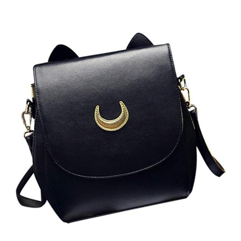 Wo weino 2016 Sailor Moon Luna/Artemis Shoulder Bag Ladies Luna Cat Leather Handbag Women Messenger Crossbody Chain Small Bag luna luna юбка