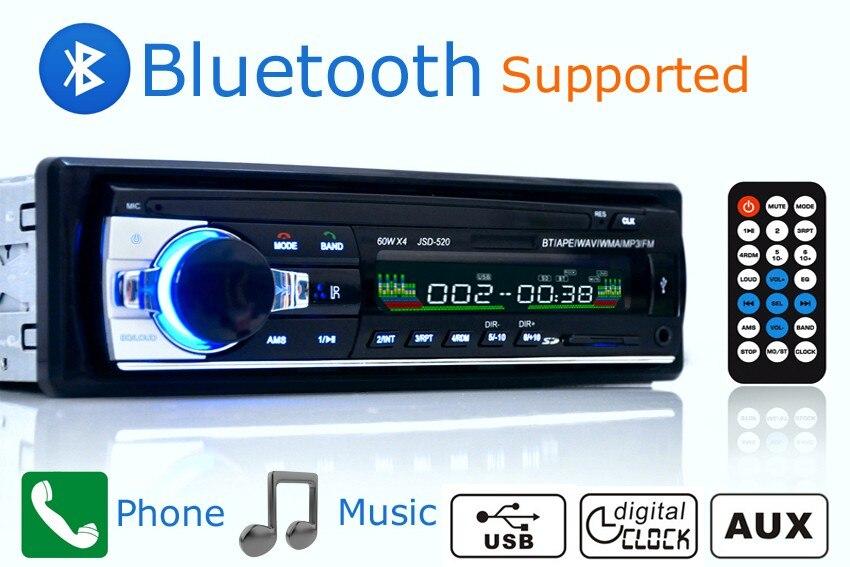 AMPrime Bluetooth Авторадио Стерео радио FM Aux вход приемник SD USB JSD-520 12 В In-dash 1 din автомобильный MP3 мультимедийный плеер