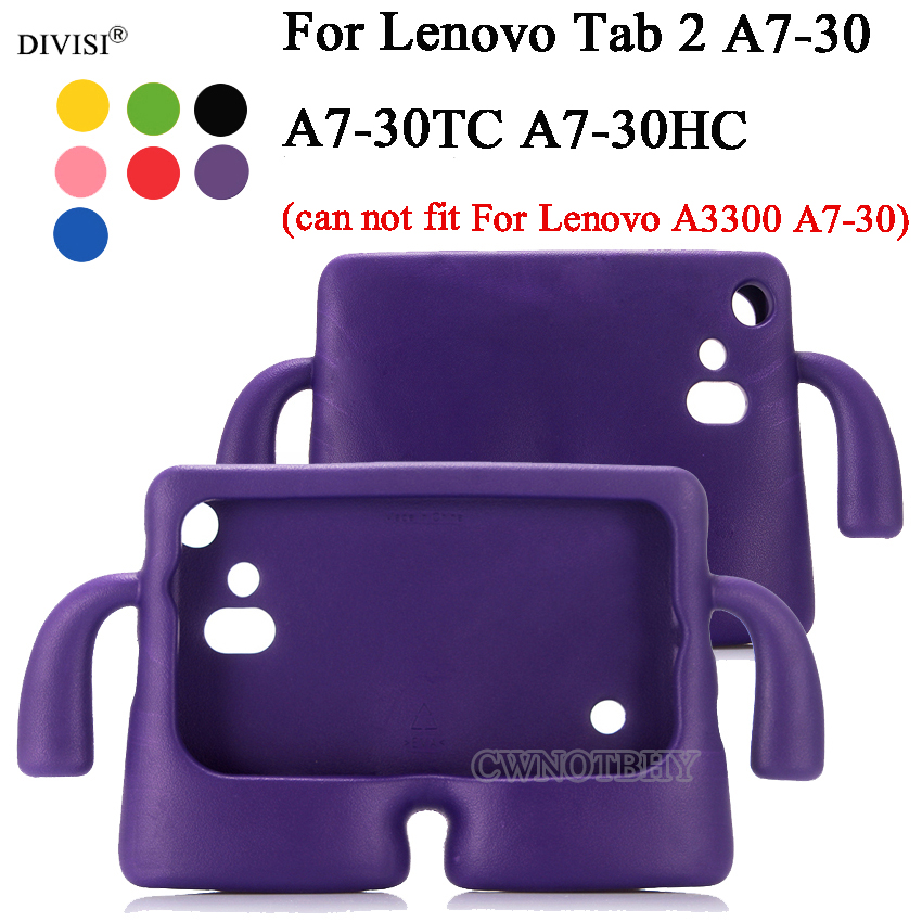 CWNOTBHY EVA Kids Child Shockproof Silicone Case Cover For Lenovo Tab 2 A7-30 A7-30TC A7 30TC A7-30HC 7.0 Tablet Protective Case