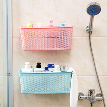 Hand-knit Hanging Basket Wall-mounted Hanging Basket Kitchen Plastic Small Basket Storage rack