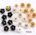 20pcs/lot Size:11mm Kawaii flower 5 colors buttons Rhinestone buttons for shirt Scrapbooking accessories Plastic button(SS-738)