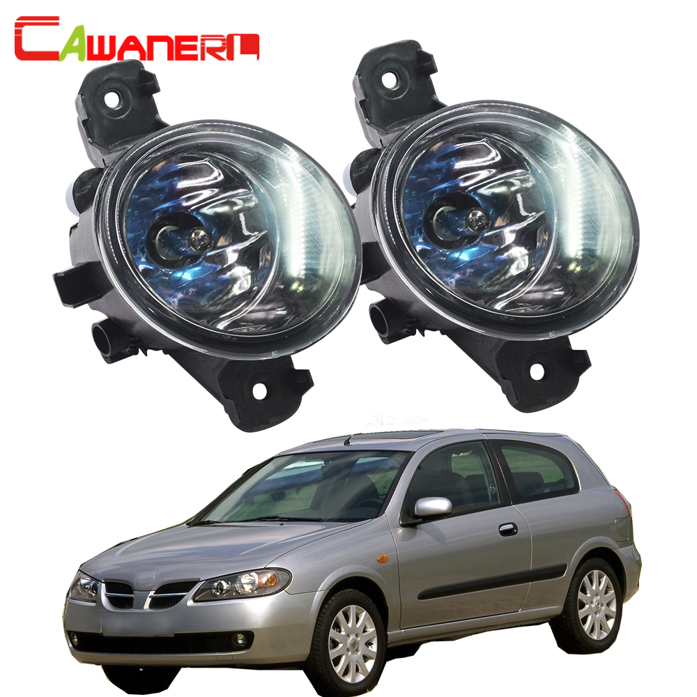 Cawanerl 2 X 100W H11 Car Light Halogen Fog Light Daytime Running Lamp DRL For Nissan Almera 2/II Hatchback (N16) 2001-2006 cawanerl 2 x car led fog light drl daytime running lamp accessories for nissan note e11 mpv 2006