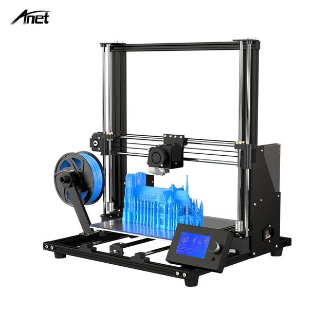 2019 חדש Anet A8 בתוספת משודרגת גבוהה דיוק DIY 3D מדפסת עצמי עצרת 300*300*350mm גדול הדפסת גודל אלומיניום סגסוגת מסגרת