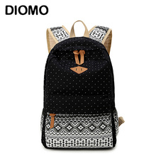 DIOMO High Quality Canvas School Bags Female Backpacks For T
