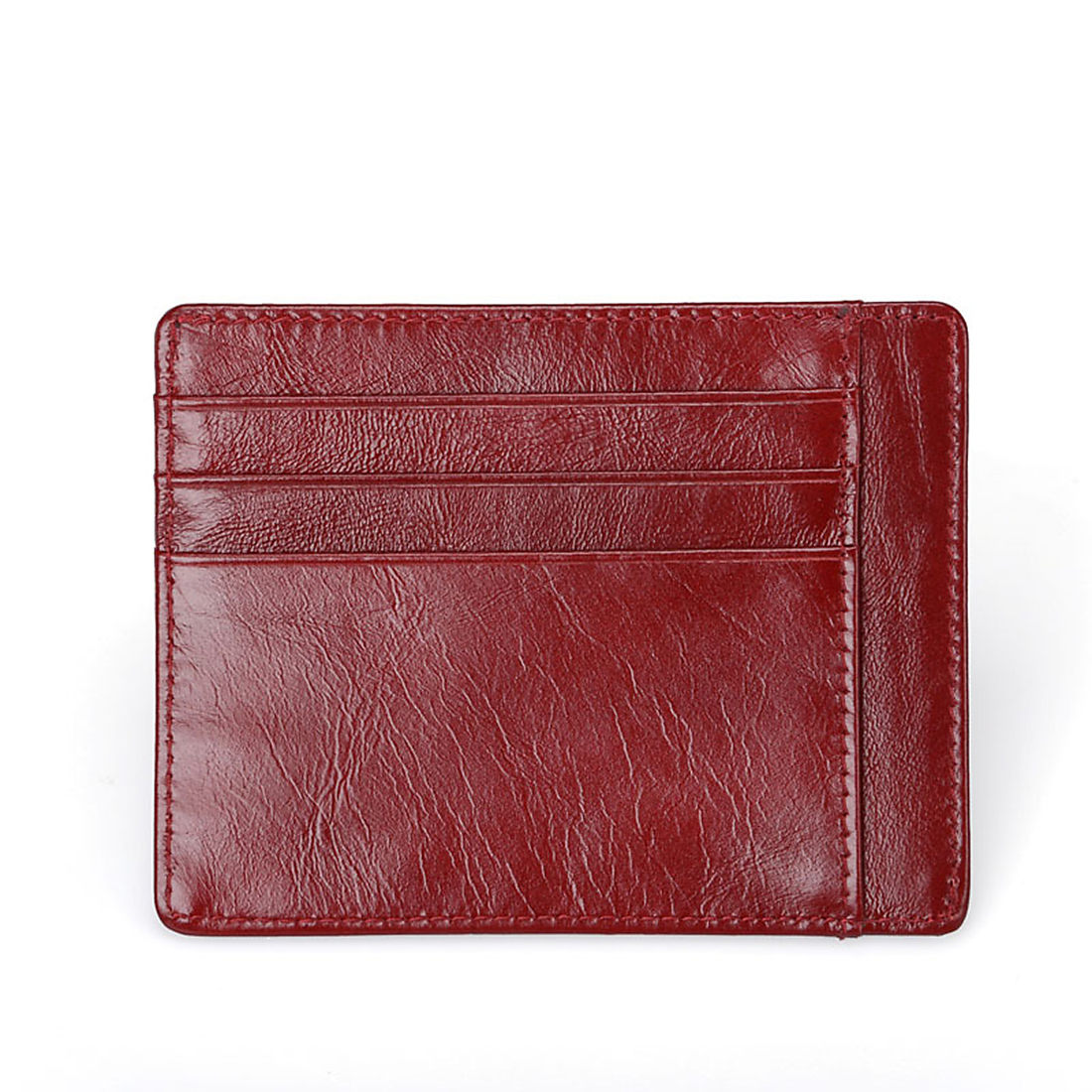 Casual Business Men Card Holder Wallet Cowhide Leather Thin Purse Card Solts Small Card Holders