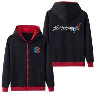 Image 5 - 뜨거운 판매 후드 애니메이션 darling에서 franxx 코스프레 까마귀 지퍼 스웨터 코트 hoody 스웨터 & 후드 5 색