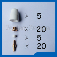 Free Shipping 50pcs PT 31 LG 40 Plasma Cutting Cutter Torch Consumables KIT Electrodes TIPS Nozzles