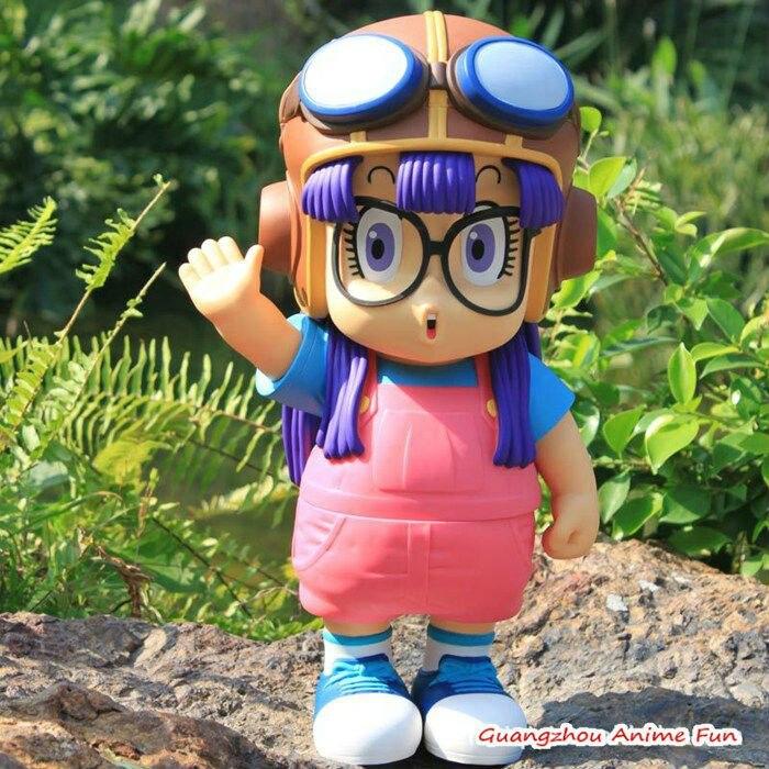 2pcs/set Dr.Slump Anime figure toy Arale with Flying capanime PVC dolls 40cm height Lovely shape