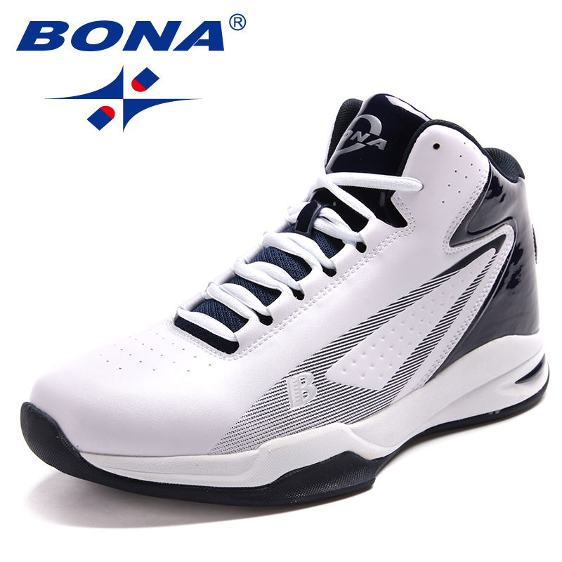 BONA New Popular Style Men Basektball Shoes Ankle Boots Men Sneakers Outdoor Jogging Shoes Male Light Soft Fast Free Shipping kelme football shoes boots for adult children 30 39 train sneakers tobillera soccer cleats zapatillas deporte light soft flats49