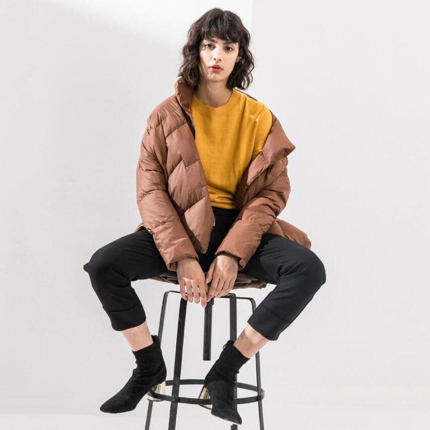 Vers Lâche Mode 90 Qualité Veste Solide Manteau D'hiver Duvet Le brown Bas Blanc Black Femmes 2018 Haute Canard De amber Tempérament Harajuku nPzOqqWx