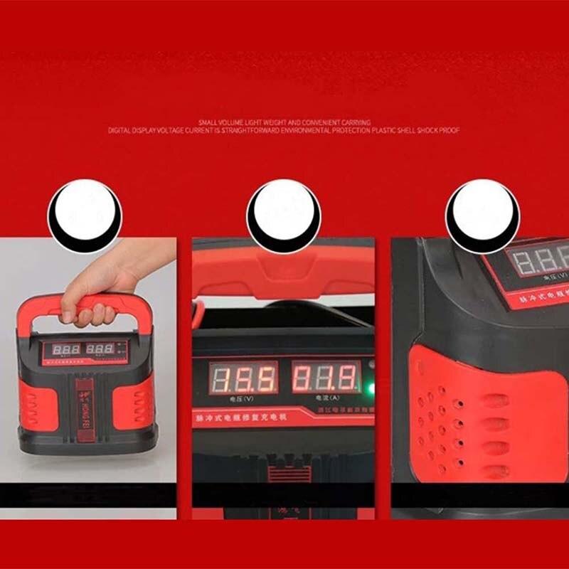 5000 W 12 V/24 V Portable chargeur de secours de voiture électrique Type de réparation d'impulsion ABS LCD Charge de batterie 2 Modes Booster Intelligent