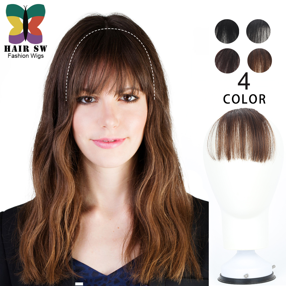 Mini Faux Bang Effect Clip In Bangs Natural Hairpiece