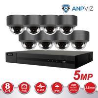 H.265 5MP CCTV Security Camera System 8CH 4K POE NVR With IP Camera CCTV Kit Waterproof IP66 Video Surveillance System