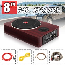 600W 8 Inch Wooden Ultra-thin Car Stereo Subwoofer Car