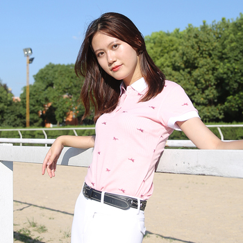 Horse Equestrian POLO shirt female short sleeve equestrian T-shirt horsewear equipped with equestrian jacket