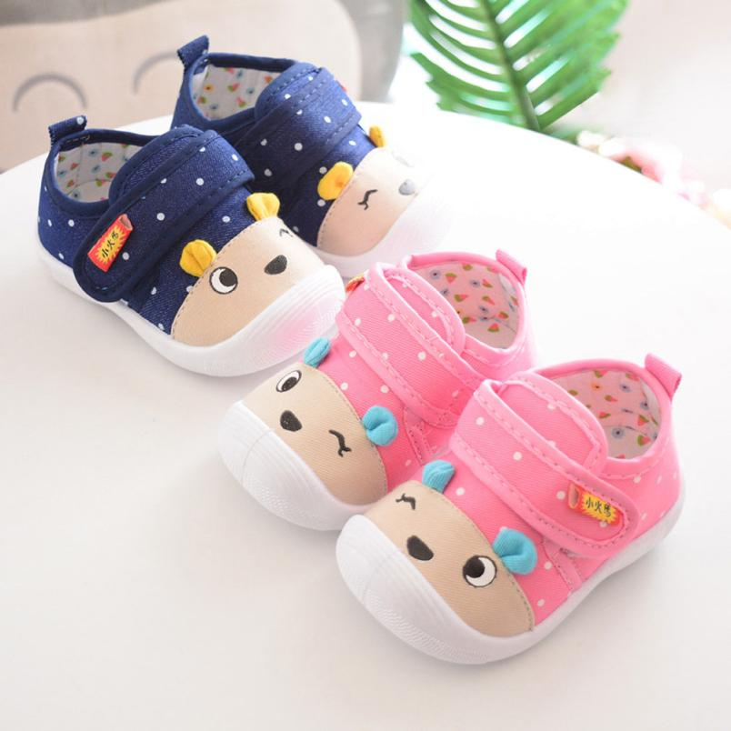 MUQGEW Infant Kids Baby Boys Girls Cartoon Anti-slip Shoes Soft Sole Squeaky Sneakers Classic Casual Newborn Boy Girl First Walk