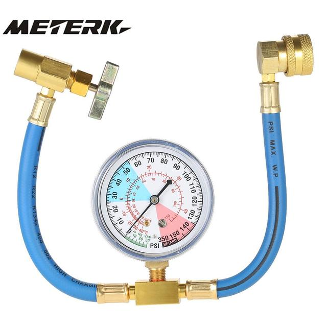 Xspander Universal Car Air Conditioning Ac R134a Refrigerant Recharge Hose Pressure Gauge