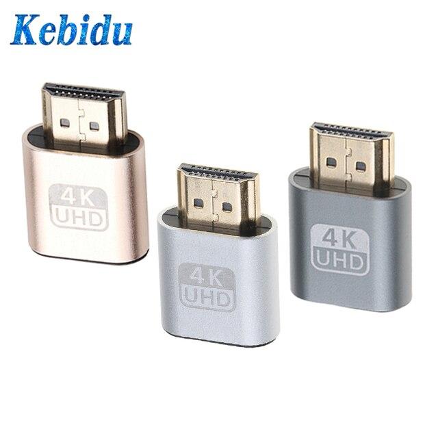 Kebidu HDMI 1.4 DDC EDID Dummy Plug VGA Adapter Virtual Display Adapter Headless Ghost Display Emulator Video card Lock plate