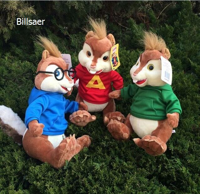 18cm movie alvin and the chipmunks alvin soft plush toys 2016 baby christmas gift - Alvin And The Chipmunks Christmas