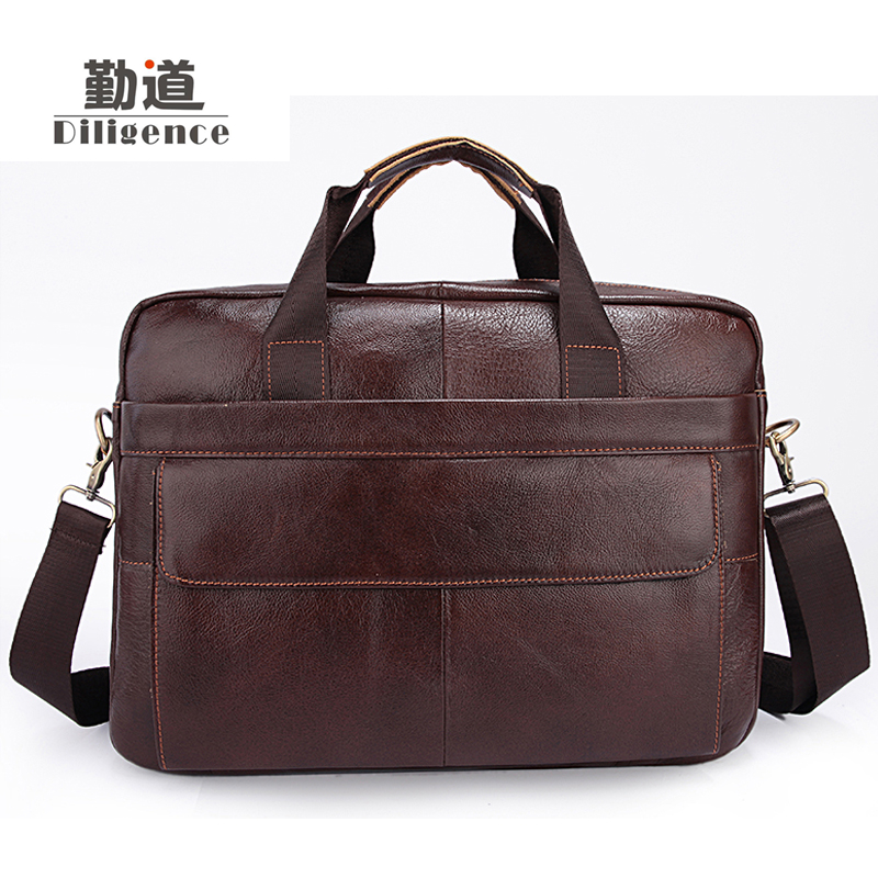 Men's Genuine Cowhide Leather Business Handbags Fashion Laptop Bags Famous Brand Designer Style Crossbody Office Bags good chispaulo women genuine leather handbags cowhide patent famous brands designer handbags high quality tote bag bolsa tassel c165