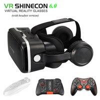 VR SHINECON 6 0 Vr Box 2 0 3d Vr Glasses Virtual Reality Gafas Goggles Google
