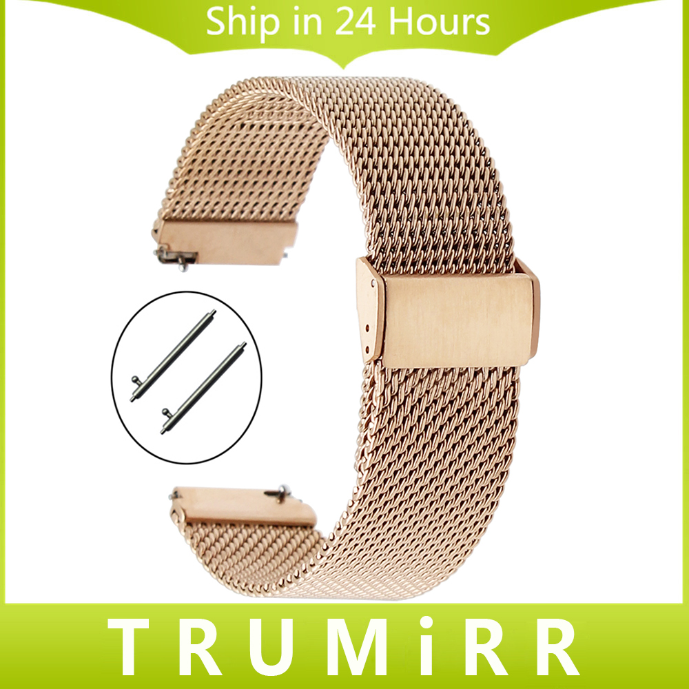 18mm Quick Release Milanese Watch Band for DW Daniel Wellington Mesh Stainless Steel Strap Wrist Bracelet Black Rose Gold Silver