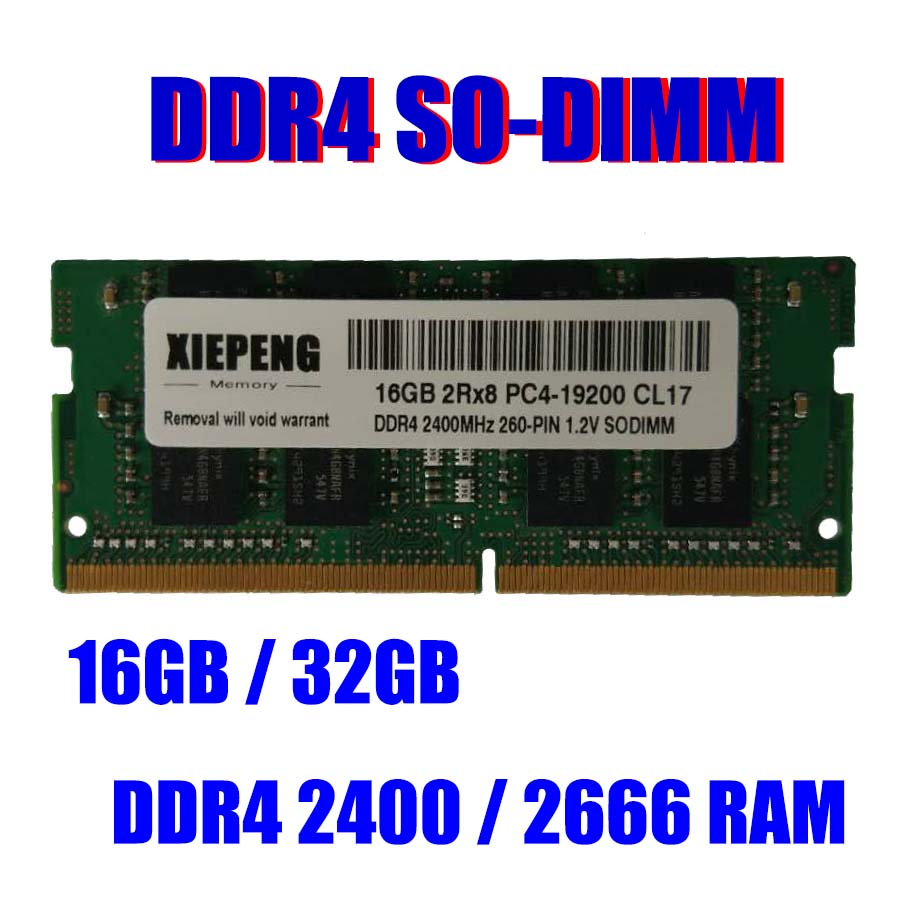 Pour Mac mini MRTT2LL MRTR2LL/Un A1993 EMC 3213 Macmini8, 1 Ordinateur Portable RAM 32 GO DDR4 2666 v PC4-21300 SO-DIMM 16 GO 2666 MHz PC4-21300