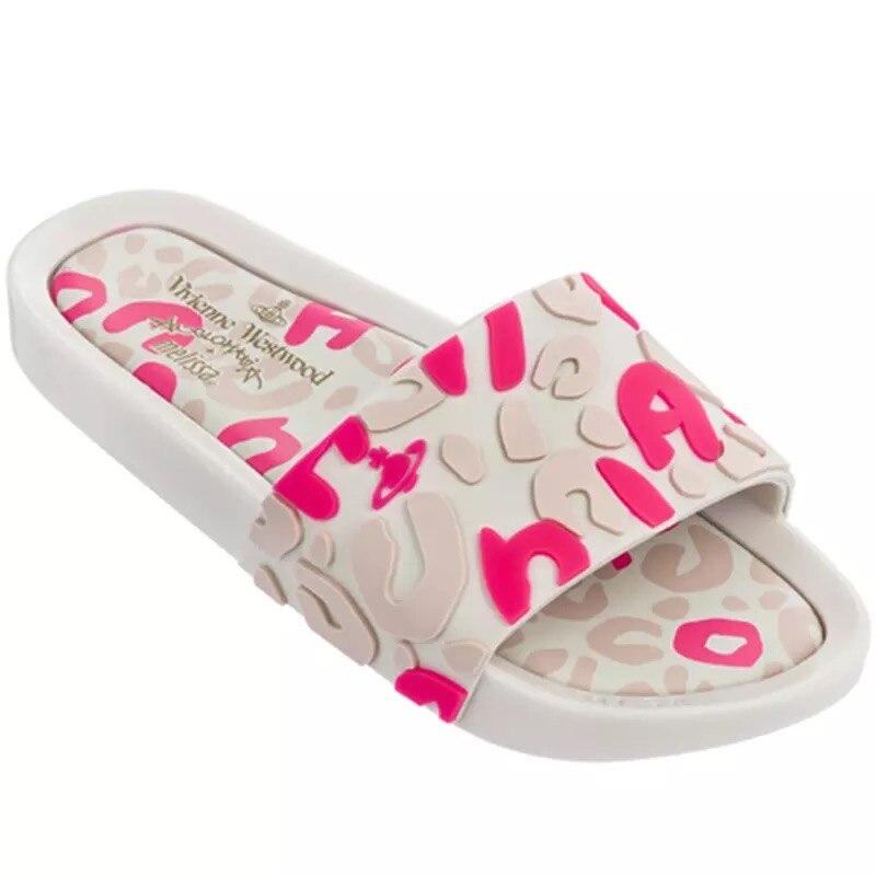 Melissa chaussures marque imprimé léopard 2019 nouvelles femmes pantoufles gelée chaussures Melissa brésilienne femme gelée chaussures chaussures plates pour femme