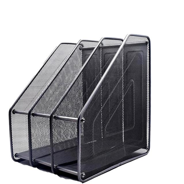 Greatest 3 Unites Metal Black A4 File Organizer Documents Paper Storage  HB12