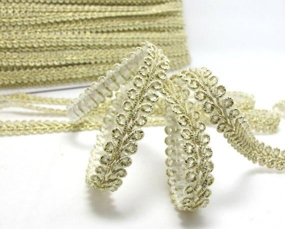 Braid gold glitter gimp style braid