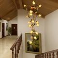 Европейский стиль ресторан ретро светодиодная длинная Подвесная лампа вилла составное здание лестницы люстра отель клуб декоративная люс...