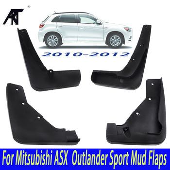 Car Mud Flaps For Mitsubishi ASX 2010 2011 2012 Outlander Sport / RVR Set Molded  Mudflaps Splash Guards Mudguards Fender|car mud flaps|mud flapssplash guard -